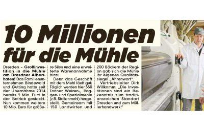 Investition von 10 Millionen geplant